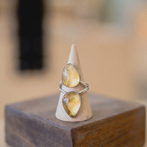 silver citrine ring 8