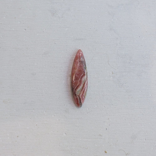 silver rhodocrosite ring