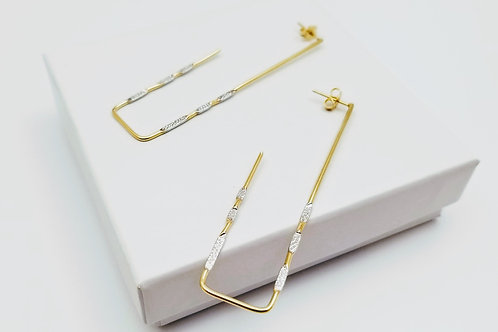 Bright Rectangle Earring