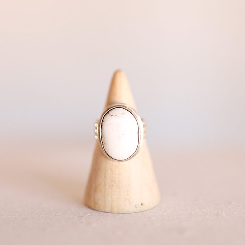 silver buffalo turquoise ring 7.25