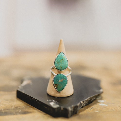 silver turquoise ring 6.5