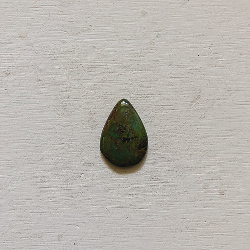 silver green turquoise gem