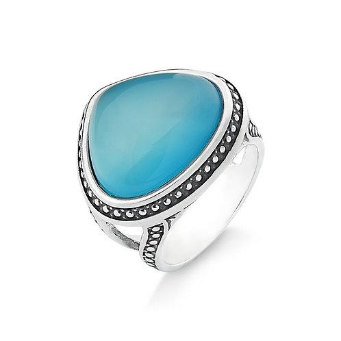 Búzios Blue Sky Agate Boho ring
