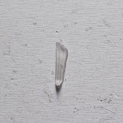 silver raw quartz ring