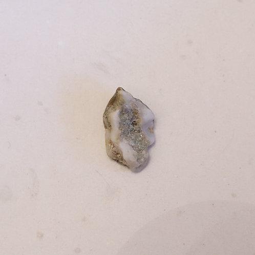 silver raw gem