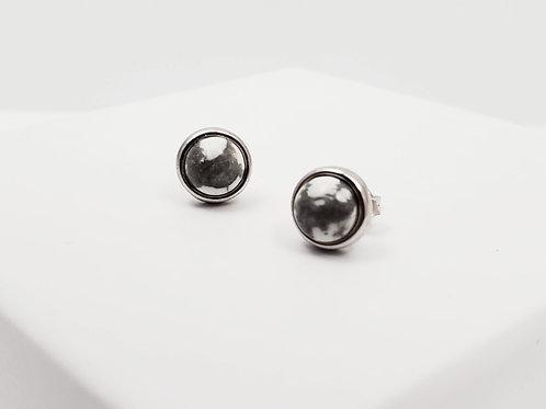 Maceió White Howlite classic earring