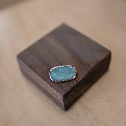 silver blue quartz pin