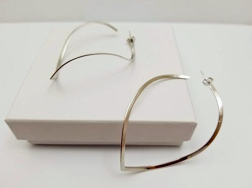 Rhodium Wind Earrings