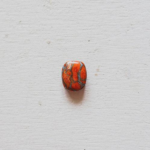 silver orange mojave turquoise ring
