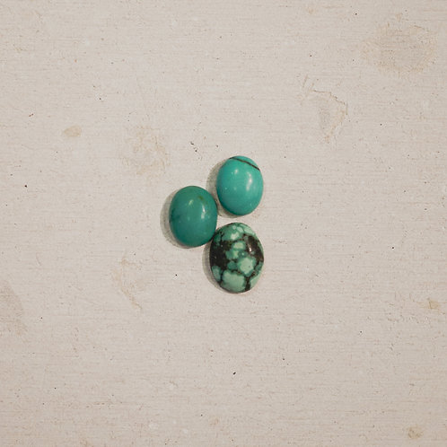 silver turquoise stacker gems
