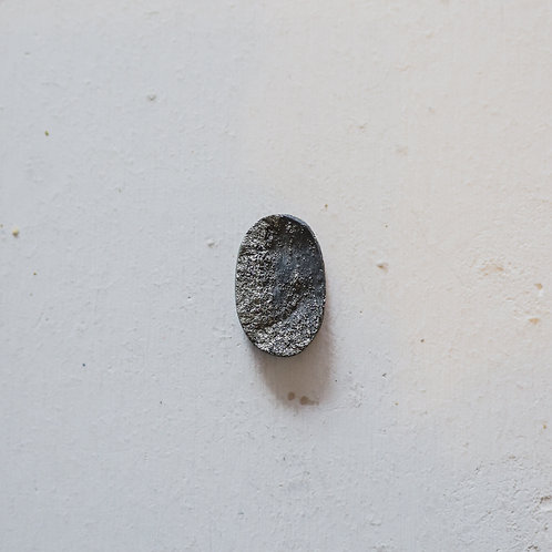 silver mixed pyrite ring