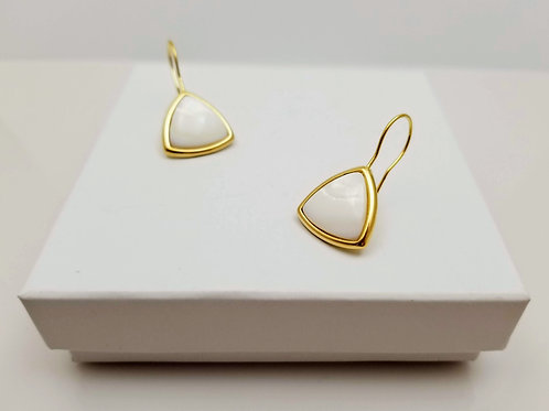 Mother Pearl Triangle Hoop