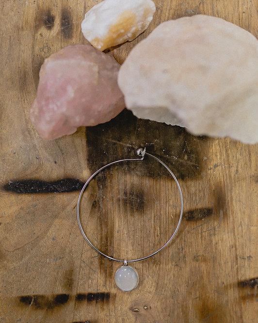 silver moonstone pendant bracelet