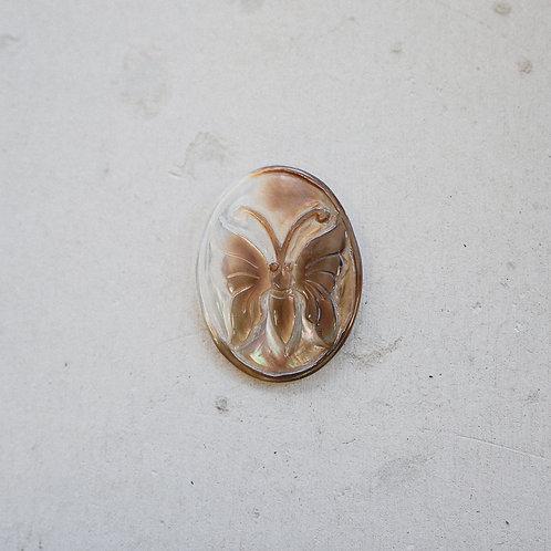 silver abalone butterfly gem