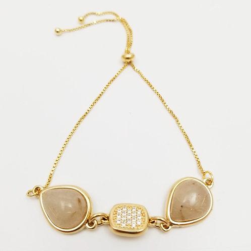 Drop Rutilated Bracelet