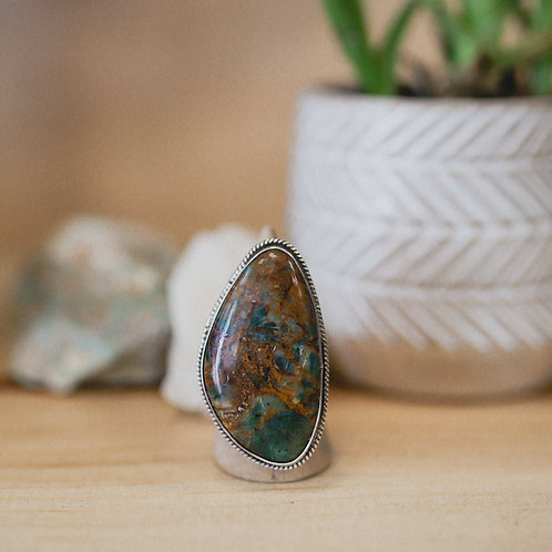 silver agate ring 8
