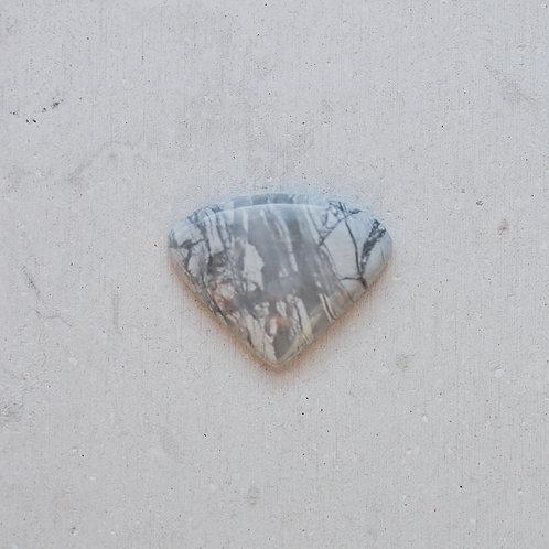 silver howlite gem