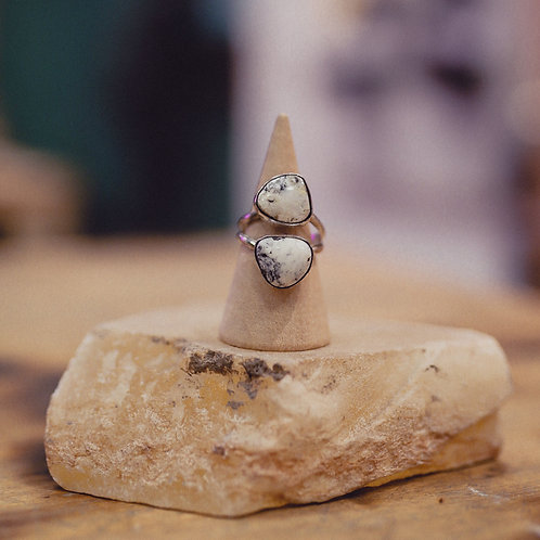 silver buffalo turquoise ring 6.5