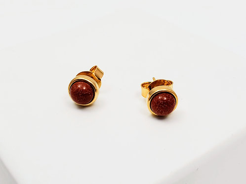 Ipanema Goldstone classic Earring