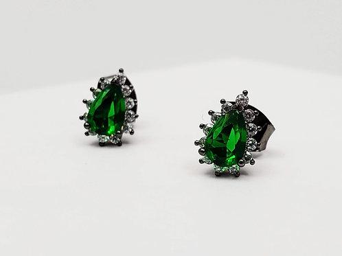 Green Crystal earring