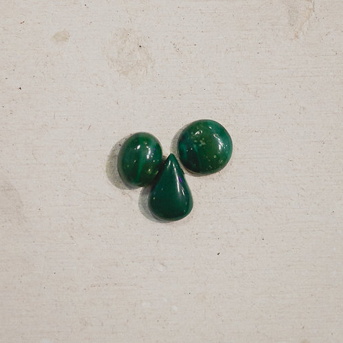 silver malachite stacker gems