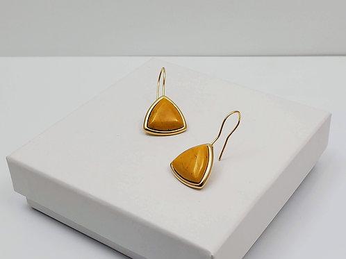 Tijuca Yellow Howlite hoop earring