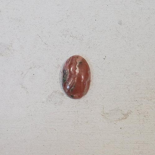 silver rhodochrosite ring