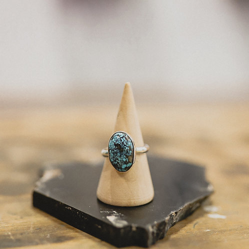 silver turquoise ring 6.25