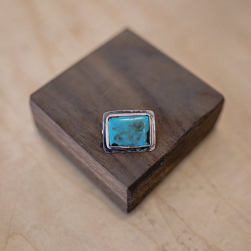 silver turquoise pin