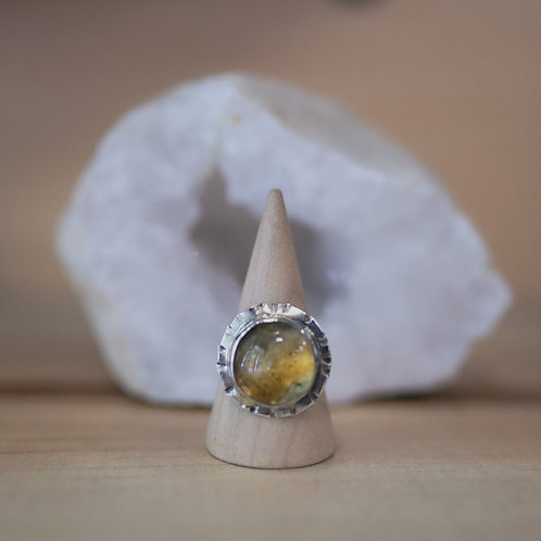 silver citrine ring 8.5