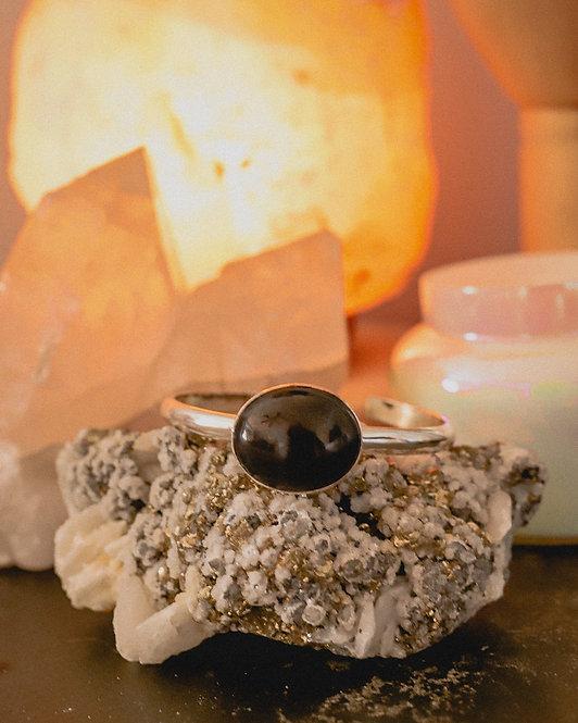 silver obsidian bracelet