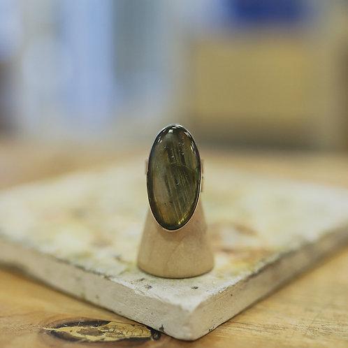 silver labradorite ring 7.25