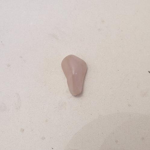 silver tumbled rose quartz gem