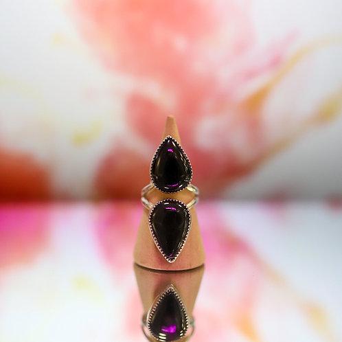 silver onyx ring 6.75
