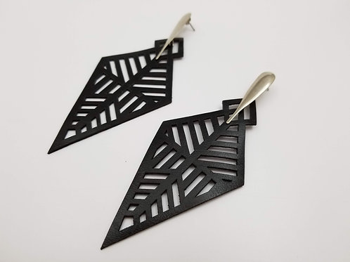 Black Leather Africa 3 earring