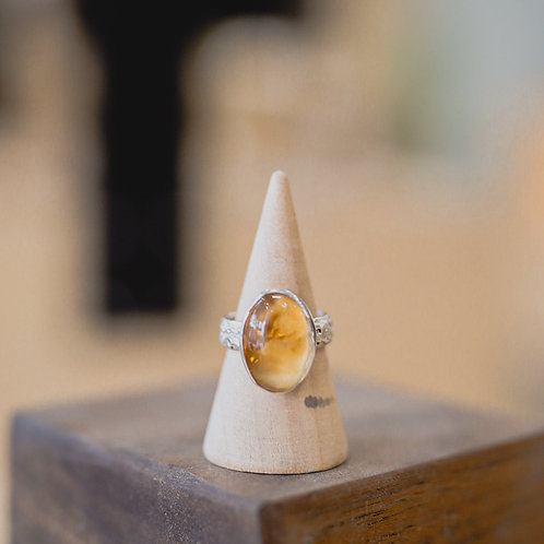 silver citrine ring 5.75