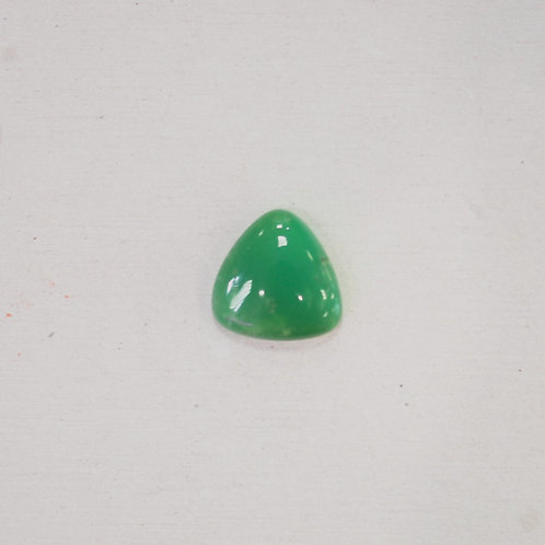 silver chrysoprase gem
