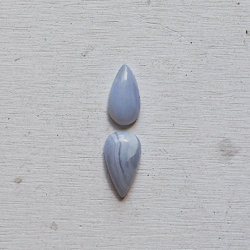 silver blue lace agate ring