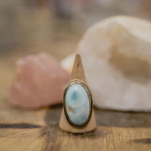 silver larimar ring 8