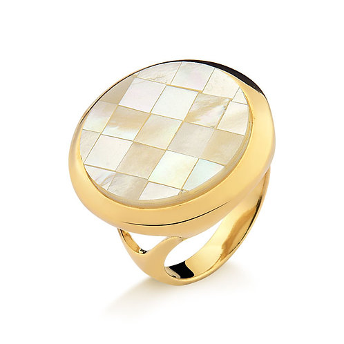 Fortaleza Mother of Pearl Mosaic Ring