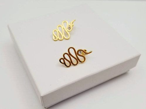 Gold Snake Earring