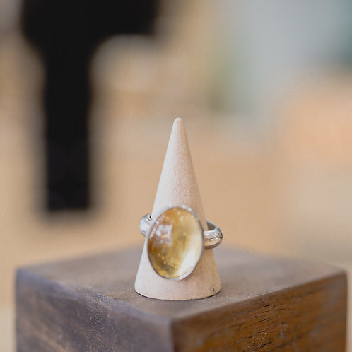 silver citrine ring 8.75
