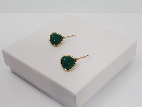 Amazonas Green Agate earring