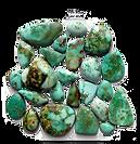 green turquoise stones