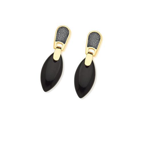 Jabuticaba Black Agate Earring
