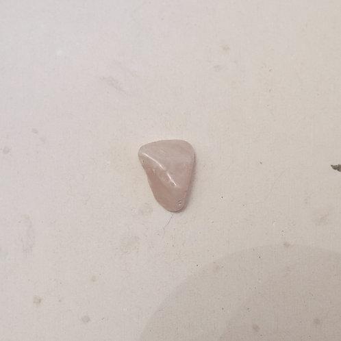 silver tumbled clear quartz gem
