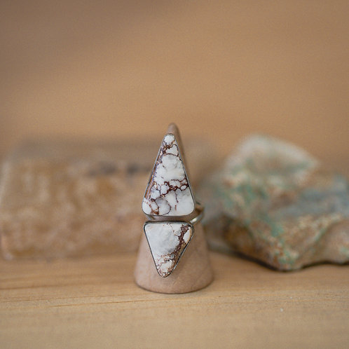 silver wild horse agate ring 6