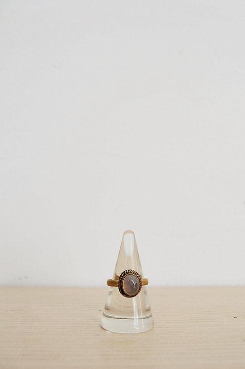 brass // rose quartz // 9