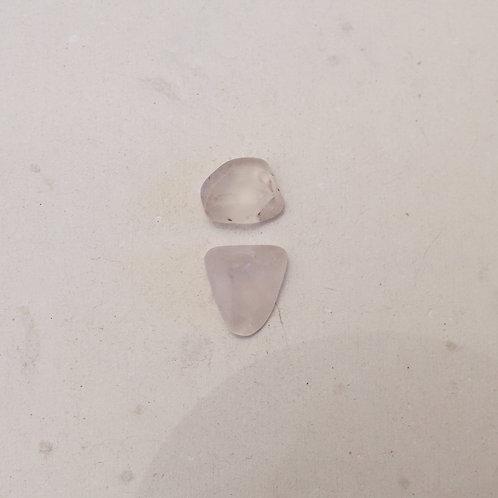silver raw clear quartz gems
