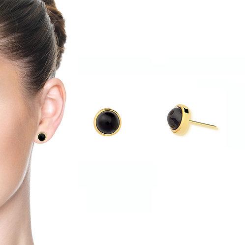 Jabuticaba Black Agate Classic Earring